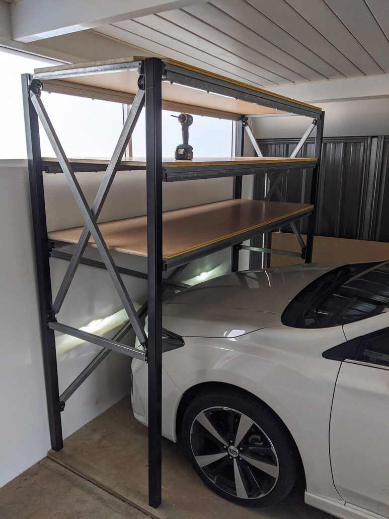 Over bonnet Shelving system