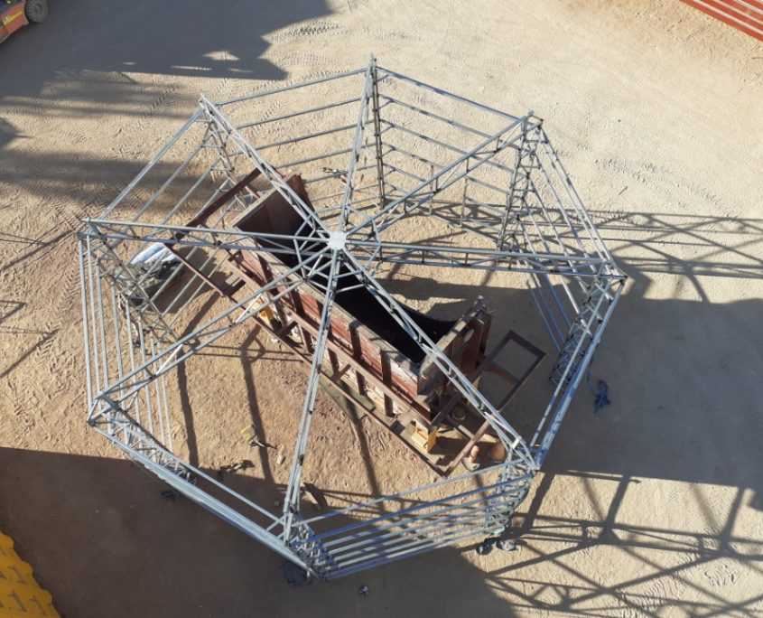 Mining Services blast and paint structure